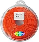 CrazyGadget® 100m Trimmer Strimmer Cord Line Nylon Round String Wire Garden Hedge Hand Grass Strimmer Refill 24mm x 100 Metre