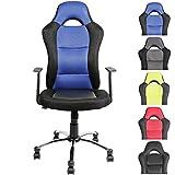 CLP Bürostuhl JERRY Gaming Stuhl, Netzbezug, höhenverstellbar 51 - 61 cm blau