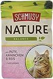 Schmusy Katzenfutter Natures Menü Pute+Kaninchen 100 g, 24er Pack (24 x 100 g)