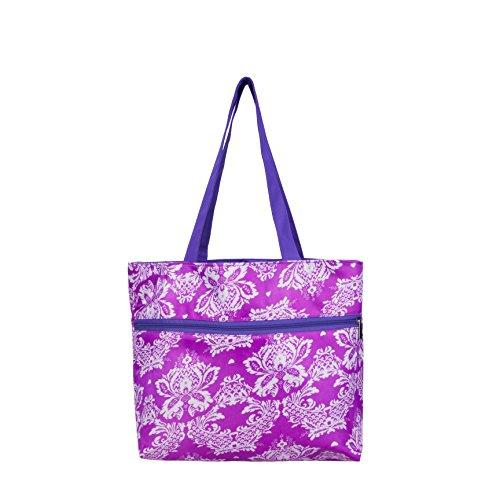 Waanii Women Girls Handbag Purple with Exterior Zip pocket.  available at amazon for Rs.270