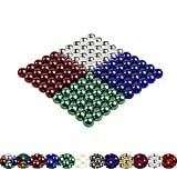 Viele Varianten: 100 Magnetkugeln 5mm für Whiteboard, Magnettafel, Kühlschrank (Chrom Blau Grün Rot)