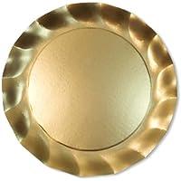Piatto Maxi Oro Satinato 5Pz diam.32,4cm