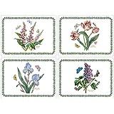 Pimpernel Lot de 4sets de table Motif jardin botanique (Grand)