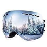 BFULL Occhiali da Sci OTG, Occhiali da Snowboard Antivento antiappannamento per Uomo, Donna e Gioventù...