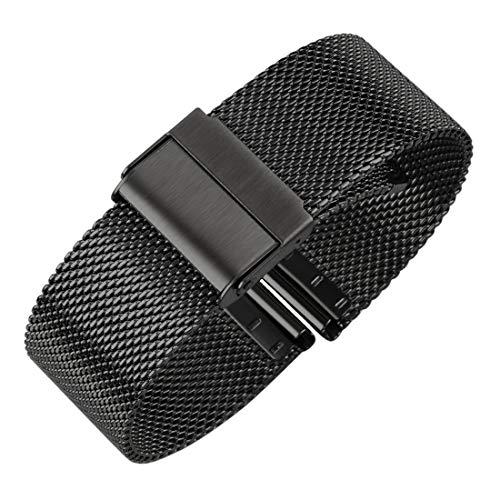high end mesh Armband Mode Band Metall milanese Riemen Deluxe ersatz Armband für Uhr mit Solider Sicherheit faltschließe, 316l Edelstahl, für männer und Frauen ...