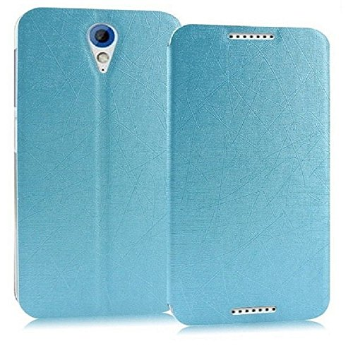 Heartly Premium Luxury PU Leather Flip Stand Back Case Cover For HTC Desire 620 620G 820 Mini Dual Sim - Power Blue