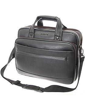 XXL Schultertasche Aktentasche Flugbegleiter Laptop Umhängetasche Business Messenger Bag Notebook Tasche Black...