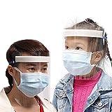 MILECN Visiera di Sicurezza Cappuccio di Protezione Completo Visiera Ampia Lente antiappannamento Resistente agli Schizzi, Visiera Trasparente Regolabile Leggera per Uomo Donna,10PCS