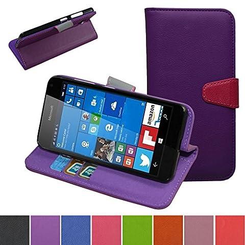 Coque Pour Lumia 650,Mama Mouth PU Cuir Portefeuille debout Fonction Housse Coque Étui Couverture pour Microsoft Lumia 650 Smartphone,Violet