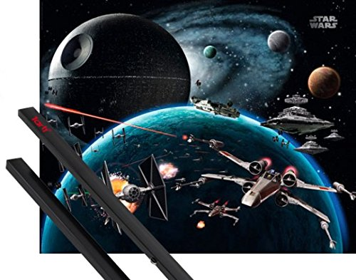Poster + Hanger: Star Wars Mini-Poster (50x40 cm) Raumfahrzeuge Im Weltall Inklusive Ein Paar 1art1® Posterleisten, Schwarz