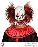 Widmann s.r.l. Killer Clown Maske mit Haaren - Blutiger Totenkopf