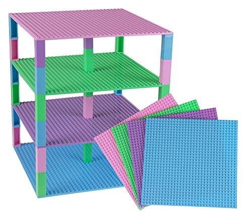 lbare Premium-Bauplatten - kompatibel mit Allen großen Marken - geeignet für Turm-Konstruktionen - Set aus 4 Platten - je 10