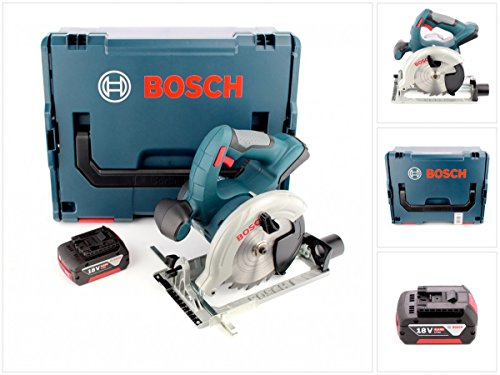 Preisvergleich Produktbild Bosch GKS 18 V-LI Professional 18 V Akku Kreissäge mit 1x GBA 5,0 Ah Li-lon Akku + L-Boxx