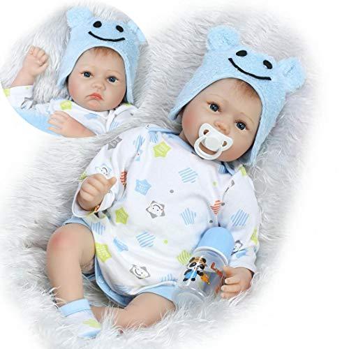 22 Pouce 55cm Réaliste Poupée Reborn Bébé de Silicone Garçon Baby Doll Toddler Babies Poupée Enfants Cadeaux Jouet