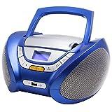 Lauson CP446 CD-Radio mit CD MP3 USB Player Tragbares Kinder Radio Boombox tragbarer CD Player, Blau