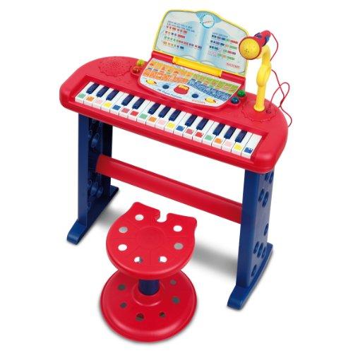 Bontempi sn 3650.2/i - organo elettronico parlante a 32 tasti con microfono e sgabello regolabile in altezza
