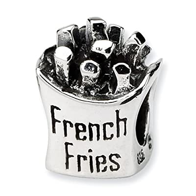Argent Sterling réflexions frites JewelryWeb Charm perle