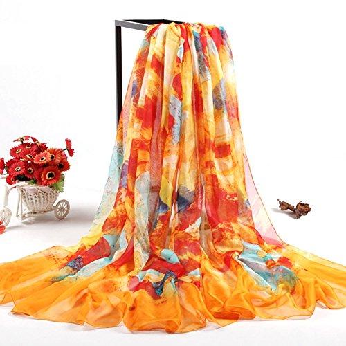 Sommer Damen Chiffon Sarong Pareo Wrap Wraps Schal Schals Wickel Sonnenschutz Schal Kleid color7