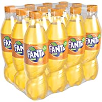 Fanta Orange/Super frische Limonade mit Orangengeschmack und Spaß-Garantie in praktischen Flaschen / 12 x 500 ml Einweg Flasche