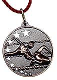 Pokalkönig Medaille Metall Schwimmen Set Gold, Silber, Bronze inklusive Kordeln 5,2cm (10x Bronze)