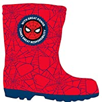 Spiderman Boys Wellington Boots Rubber Wellies