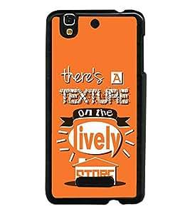 FUSON Texture On Lively Store Designer Back Case Cover for YU Yureka :: YU Yureka AO5510