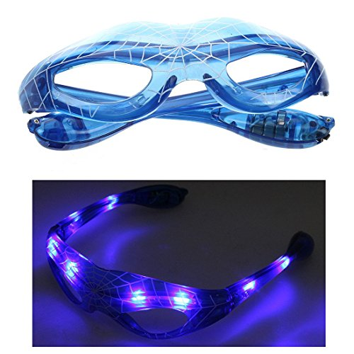 SODIAL R  Spark Spider-Man LED Light Up Flashing Glasses for Rave Club Masquerade DJ Party