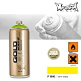 Montana Cans 285561 Spray Dose Gold 400ml, Gld400-P1000 - 100% yellow