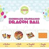 Partycolare - Kit Coordinato Compleanno Dragon Ball per 16 persone - Piatti, Bicchieri, Tovaglioli e Tovaglia