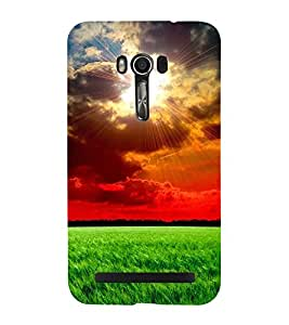 Fuson Premium Back Case Cover Sunshine With yellow Background Degined For Asus Zenfone Go::Asus Zenfone Go ZC500TG