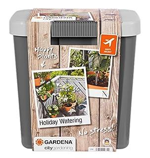 GARDENA city gardening Urlaubsbewässerung: Beregnungs-Set mit Vorratsbehälter, für drinnen und draußen, Bewässerung von bis zu 36 Pflanzen (1266-20) (B0001E3S3G)   Amazon Products