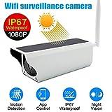 Remaxm - Cámara de Seguridad IP para Exteriores con energía Solar, visión Nocturna, inalámbrica, WiFi, cámara de vigilancia