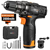 Cordless Drill Driver, Tacklife PCD01B 12V Lithium-Ion Electric Cordless Screwdriver Portable 2-Gear Drill