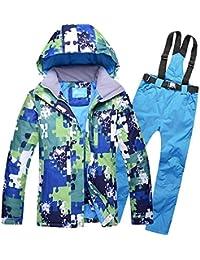 Traje de esquí Modelos de Pareja Hombres Ms al Aire Libre a Prueba de Viento Pantalones de esquí de Gran tamaño Impermeables, S, Zafiro