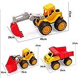 GAO Modello di Bulldozer per Escavatore per Veicoli da Costruzione Resistente al Ragazzo per Bambini ATV (30 * 19,5 * 18,5 cm)