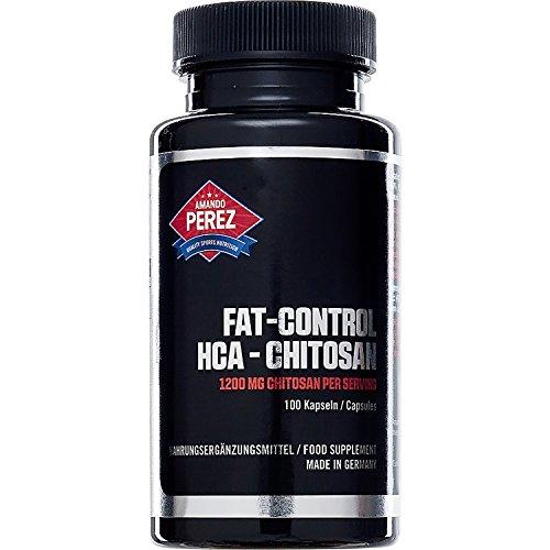 *Fat Control HCA Chitosan – Fettbinder Fatblocker – 1200 mg pro Portion – 100 Kapseln – Für fettfreie, trockene Wettkampfmuskelmasse*