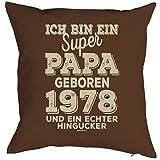 Mega-Shirt zum 41 Geburtstag Geschenkidee Polster Kissen mit Füllung super Papa geboren 1978 Polster zum 41. Geburtstag für 41-jähirge Dekokissen