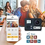 4K 16MP UHD Sport Camera, SEGURO WiFi Action Camera Waterproof Sport Camera, 170 Degree Wide Angle Lens, Dual Screen, 2 Rechargeable Battery, Outdoor Accessories Kits Digital Video Camera + hand carry kit bag