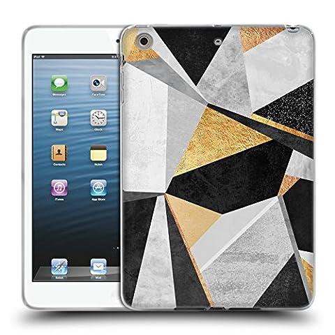 Offizielle Elisabeth Fredriksson Geometrie Gold Geometrisches Designs Und Muster Soft Gel Hülle für Apple iPad mini 1 / 2 / 3