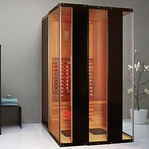 infrarotkabine madeira infrarot sauna f r 2 personen w rmekabine infrarotsauna. Black Bedroom Furniture Sets. Home Design Ideas