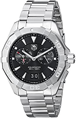 TAG Heuer Men Analogue Watch with Black Dial Analogue