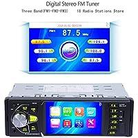 Car Mp3 Stereo con Bluetooth Single DIN Reproductor de Video Mp5 de Radio FM con Pantalla LCD de 4.0 de 7 Colores, Cámara de Visión Trasera IR Control Remoto, Dos Puertos RCA