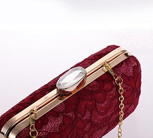 rotviolett Eysee aprikose 6cm schwarz 18cm Clutch 8cm Damen 1gBw1Aqv