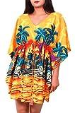Best Amazon Of Times Bar Covers - Virgin Crafts Women's Trim Kaftan Hawaiian Print Swimwear Review
