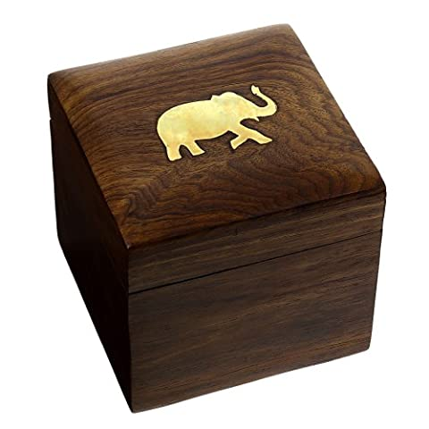 Indian Elephant Jewelry Holder 10 x 10 x 9 cm Jewelry Boxes for Necklaces Animal Lover Gifts