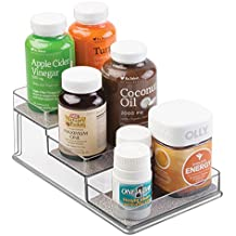 mDesign Organizzatore per Vitamine, Integratori, Prodotti per la Salute - 3 Livelli,