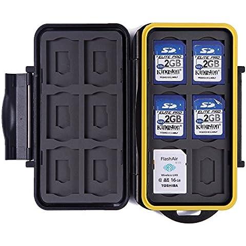 HDE - Custodia da viaggio per scheda di memoria Standard e Micro, impermeabile, per 12SD