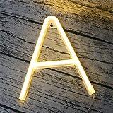 DUBENS LED Neon Nachtlicht, 0-9 Nummer 26 Buchstabe Licht Leuchte Alphabet Beleuchtung Nachtlichter, Batterie/USB Powered, fü