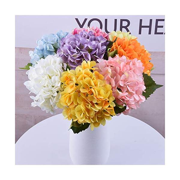 Romote 1PC Artificial de Flores de Hortensia Grandes Cabezas de Seda Ramo montón Fiesta de la Boda Inicio Blanca
