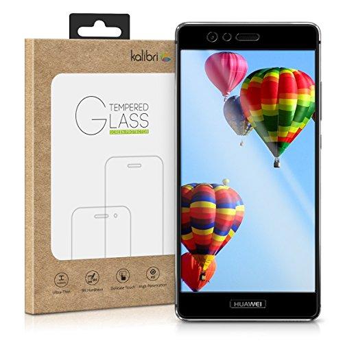 kalibri Huawei P9 Folie - 3D Glas Handy Schutzfolie für Huawei P9 - Auch für gewölbtes Bildschirm